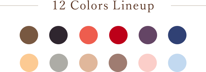 12 Colors Lineup